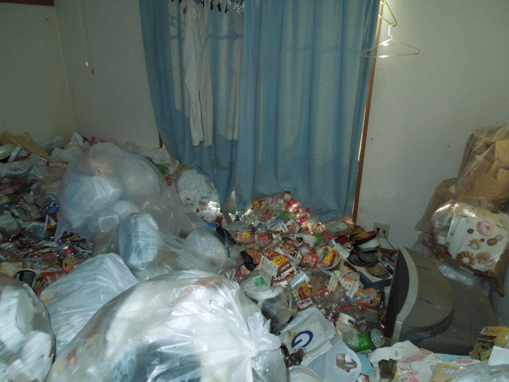 三浦市のゴミだらけの洋室の写真